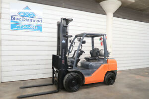 2015 Toyota 8fgu30 6 000 Pneumatic Tire Forklift Lp Gas 218 Triple 4 Way