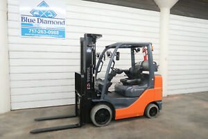 2013 Toyota 8fgcu30 6 000 Cushion Tire Forklift Triple Sideshift 676 Hrs