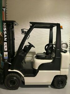 2011 Nissan Forklift 5000lbs 3 Stage Side Shift Lpg Lift Truck Hi Lo 82 187