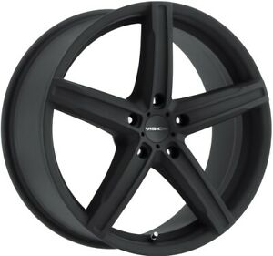 17 Inch 5 Lug 5x114 3 5x4 5 Black Vision Rims 17x8 38mm Set Of 4 Wheels
