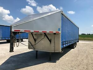 Trailer Gooseneck Curtain Side Flatbed 32 X 102 Heavy Duty