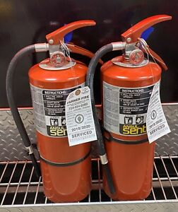 10lb Abc Fire Extinguisher Wall Bracket Cert tag nice Set Of 2