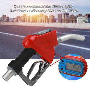 1 trubine Mechanical Gas Diesel Digital Fuel Nozzle 0 25mpa W lcd Reading Meter