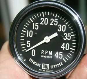 Stewart Warner Vintage Electric 3 3 8 4500 Rpm Tachometer Model 765 B K6