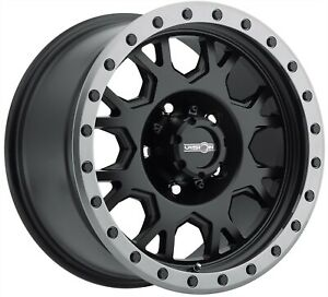 17 Inch 5 Lug 5x127 5x5 0 Black Anthracite 1500 Rims 17x9 12mm Set Of 4 Wheels