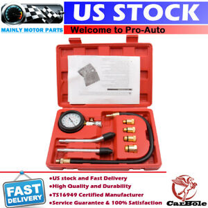 Petrol Gas Engine Cylinder Compression Tester Kit Gauge Automotive Diagnostic Us