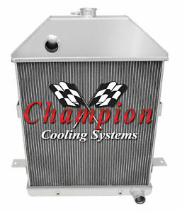 4 Row Performance Champion Radiator For 1941 Ford Truck Chevy Configuration