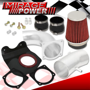 For 1994 1995 Mustang 5 0 V8 3 5 Cold Air Intake System Unit Polish Red Filter