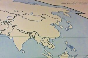 New Massive World Us Laminated Map Office Business Home Library Classroom School