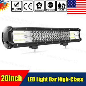 20inch 288w Cree Led Light Bar Flood Spot Work Driving Offroad 4wd Truck Atv Ute