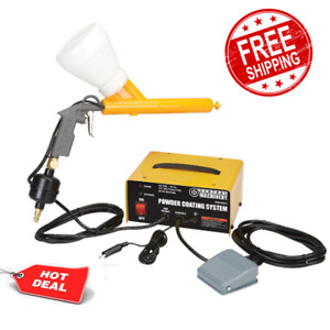 Complete 10 30 Psi Powder Coating System Paint Gun Perfect For Home Or Shop New
