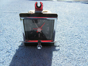 1966 Ford Galaxie 500 Dash Mount Clock 12 Volt Fomoco