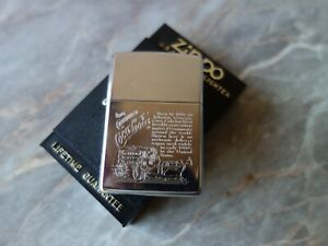 VTG OLD RARE 1993 ZIPPO COCA COLA HISTORY HORSE DELIVERY WAGON CIGARETTE LIGHTER