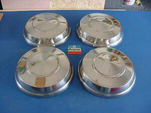 1962 63 Mopar Plymouth Dodge Dog Dish Hubcaps 4 Hemi 440 B body nice