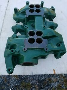 1956 Pontiac Factory High Performance 2x4 Dual Quad Nascar Manifold D32960