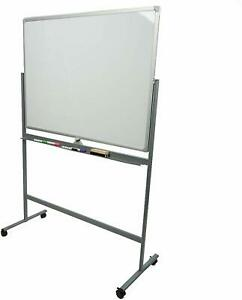 Mind Reader Wbroll wht 35 5 X 23 5 Rolling Portable Magnetic Dry Erase Board