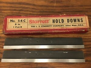 1 Pair Ls Starrett No 54c 6 Hold Downs Machinist Collectible Toolmaker Usa