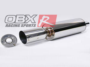 Obx Forza Universal Stainless Steel Round Muffler Tip 2 5 Inlet