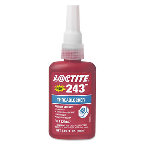 Loctite 1329467 243 Blue Medium Strength Threadlockers 1 69 Oz 50 Ml 3 4