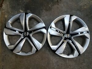 1 Brand New Pair 2016 16 2017 17 2018 18 Civic 16 Hubcaps Wheel Covers 55099