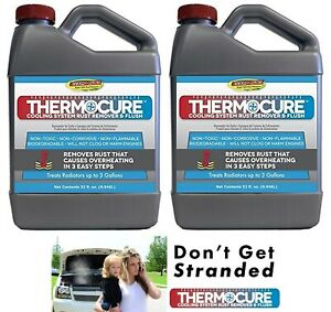 2 New Thermocure 32 Oz Coolant System Rust Remover Flush For Cooling Systems