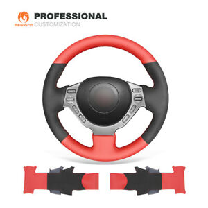 Black Red Pu Leather Steering Wheel Cover For Nissan Gtr Gt r nismo 2008 2016