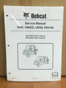 Bobcat 3400 3400xl Utility Vehicle Service Manual Shop Repair Book 1 6989602