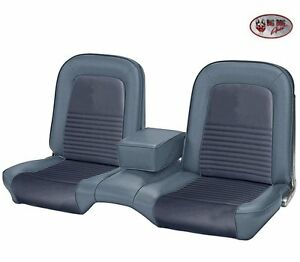 1967 Mustang Front Bench Seat Upholstery Blue Made By Tmi In The Usa