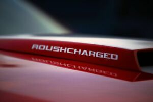Roush Charged Hood Scoop Decal Stickers Oem 2pc Set New