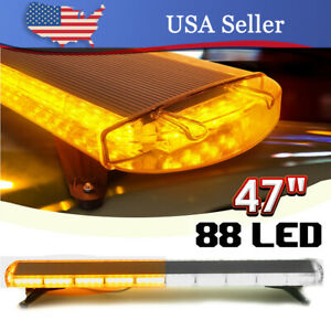 47 88 Led Amber White Emergency Strobe Light Bar Flash Warning Tow Response