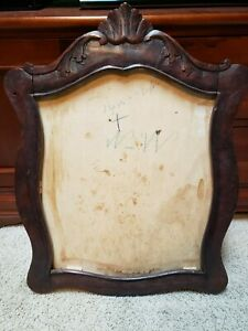 Vintage European Hand Carved Wooden Picture Or Mirror Frame