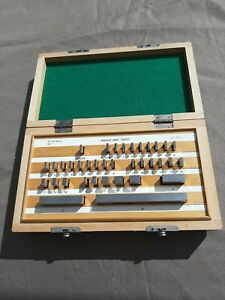 36 Pc Steel Gage Block Set Workshop Grade 000050 Poland