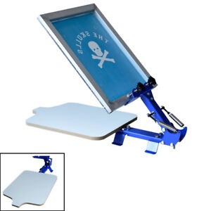 Screen Printing Equipment 1 Color T shirt Screen Silk Press Machine Starter Tool