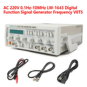 Lw1643 0 1hz 10mhz Function Signal Generator Frequency Meter Sine Square Wave