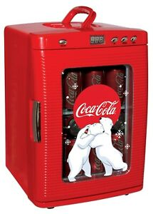 Retro Mini Fridge-Finish:Red For Office Home Game Room Dorm Collectible Vintage