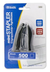 Mini Stand up Standard 26 6 Stapler W 500 Ct Staples Home School And Office