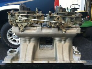 Weiand Tunnel Ram For Small Block Chevy 350 With Carburetors And Top Section