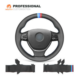 Genuine Leather Steering Wheel Cover For Bmw 5 Series F10 F11 F12 F13 F01 F02 M5
