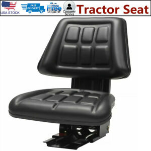 Tractor Seat With Suspension Pvc Waterproof Universal Forklift Bucket Seater New
