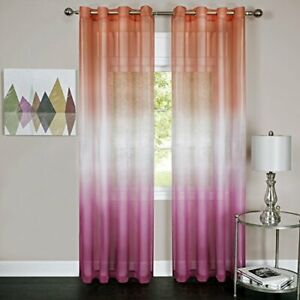 Achim Home Furnishings Rainbow Grommet Window Curtain Panel 52 By 84 Pink