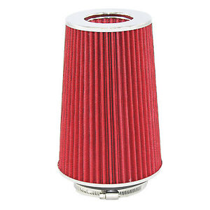 Red Universal Cone Intake Air Filter 10 6 L X 6 W Inlet 3 3 5 Or 4 Large