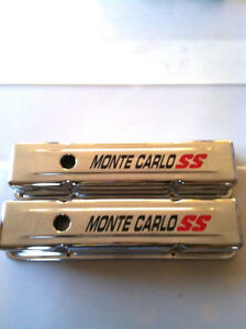 Sbc Monte Carlo Ss 350 305 400 Chevrolet 1958 86 Tall Chrome Valve Covers Chevy