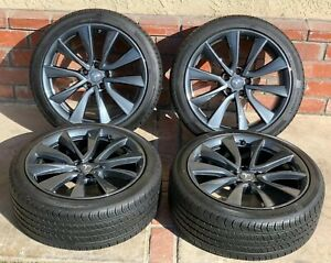 19 Tesla Model 3 Rims Wheels Oem 2018 2019 Set Genuine Factory Tires