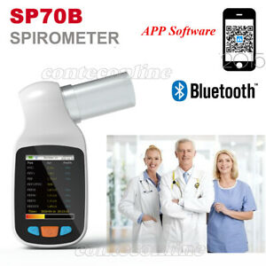 Contec Sp70b Handheld Digital Spirometer Pulmonary Function Spirometry bluetooth