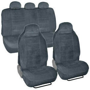 Soft Thick High Back Car Seat Cover For Built In Headrest Suvs Van Trucks 7p