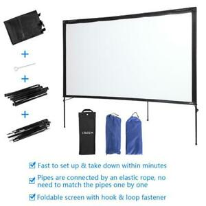 80 Foldable 4k Projector Screen 16 9 Home Garden Movie Projection Carry Bag