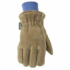 Men s Lined Leather Work Insulated Gloves Large Wells Lamont For Cold Winter
