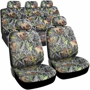 Camo Seat Covers For Truck Car Suv Camouflage Auto Protectors Set Waterproof