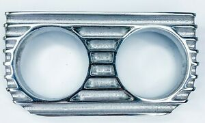 Finned Under Dash Gauge Panel polished Cast Aluminum Double 2 Made In Usa