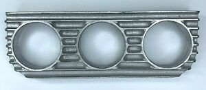 Finned Under Dash Gauge Panel Unpolished Cast Aluminum Triple 3 Made In Usa